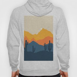 Mountains Landscape and Desert Cactus 2008 Hoody