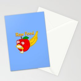 Raw Foods Food Fight Stationery Cards