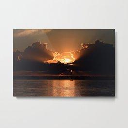 Fisherman Sunset Metal Print