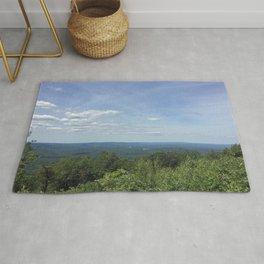 View from Big Pocono Mountain Rug
