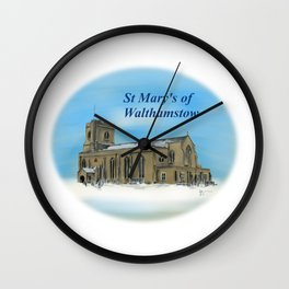 St Mary's in the Snow Wall Clock