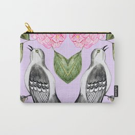 Mockingbird and camellia watercolor painting To Kill a Mockingbird Carry-All Pouch