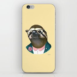 Sloth Lady art print by Ryan Berkley iPhone Skin
