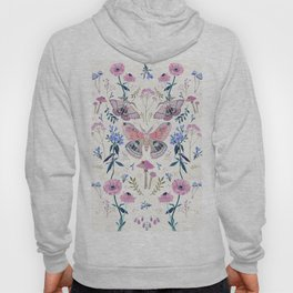 Lilac Butterfly and Flowers Hoody