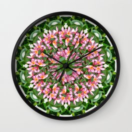the tropical mandala Wall Clock