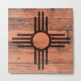 New Mexico State Flag Brand Metal Print
