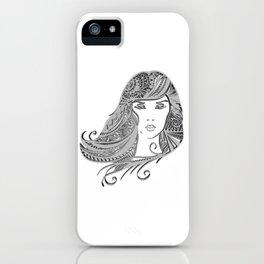 zentangle portrait 4 iPhone Case