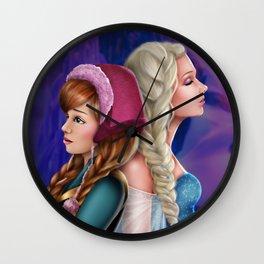 Frozen Sisters Wall Clock