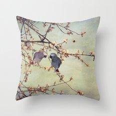 African grey parrots Throw Pillow