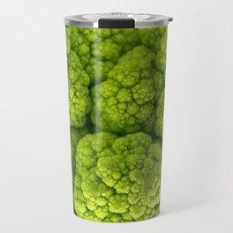 Green Cauliflower Macro Travel Mug