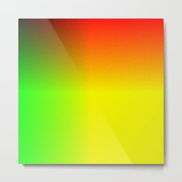 Rainbow red, yellow, and green ombre flame print Metal Print