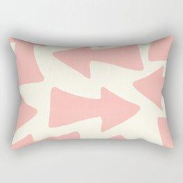 Peach Arrows on Pale Yellow Rectangular Pillow