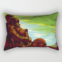 Earth - Your Oasis in Space Rectangular Pillow