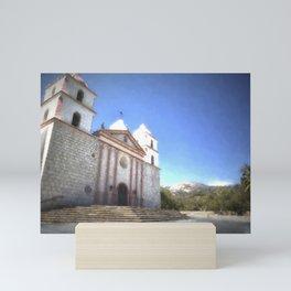 Santa Barbara Mission Mini Art Print