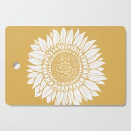 Yellow Sunflower Drawing Cutting Board