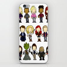 Doctors Companions and Friends V.2 iPhone & iPod Skin