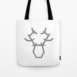 Digital washi tape deer head modern Tote Bag