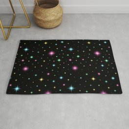 Colorful starry night Rug