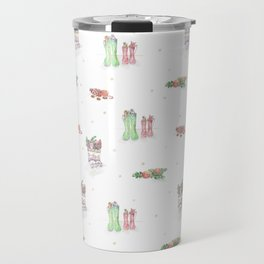 Christmas Boots Pattern Travel Mug