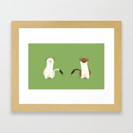 Lots of Stoats Framed Art Print