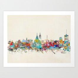 Ottawa Ontario skyline Art Print
