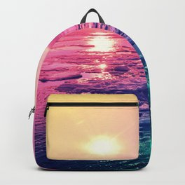 Pastel Sunset Waters Backpack
