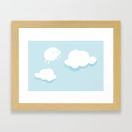 Nuages et mouton Framed Art Print