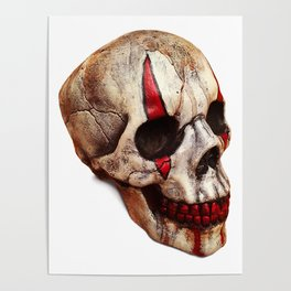 Circus Clown Skull Poster