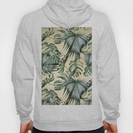 Palm Leaves Classic Linen Hoody