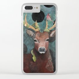 Finch Deer and Snake Clear iPhone Case