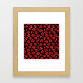 patterned roses Framed Art Print