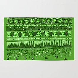 Yzor pattern 007 green Rug