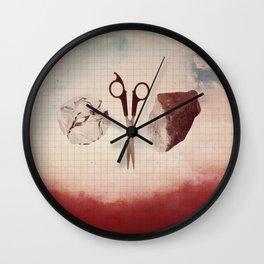 Paper Scissors Stone Wall Clock