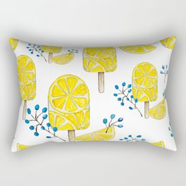 Watercolor Lemon Rectangular Pillow