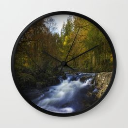 Autumn Forest River Wall Clock