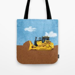 Construction Bulldozer Tote Bag