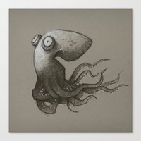 octopus Canvas Prints featuring Octopus by Tim Probert