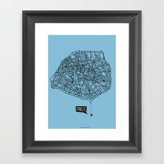Spidermaps #1 Dark Framed Art Print