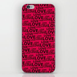 Love background  #society6 #decor #buyart #artprint iPhone Skin