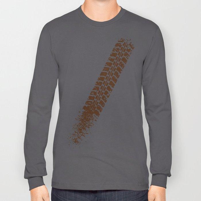 Mountain bike tyre marks Long Sleeve T-shirt