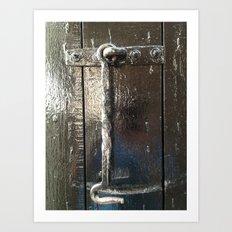 Iron Gate latch,  Art Print