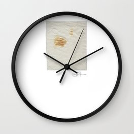 Ketchup stain on Sunday afternoon Wall Clock