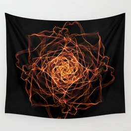 Fire Rose Wall Tapestry
