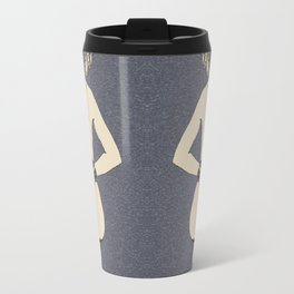 Submissive girl fetish posing, kink in sensual style, hourglass perfection in form of naked woman Travel Mug