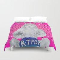 artpop Duvet Covers featuring ARTPOP cover  by Diego Guzman