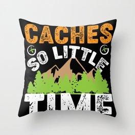 geocaching, gps, cache, geocache, geocacher, logbook, cacher Throw Pillow