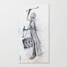 Drumming Death Canvas Print