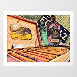 Cigars y Ron de Cuba Art Print