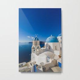 Oia in Santorini Greece Metal Print