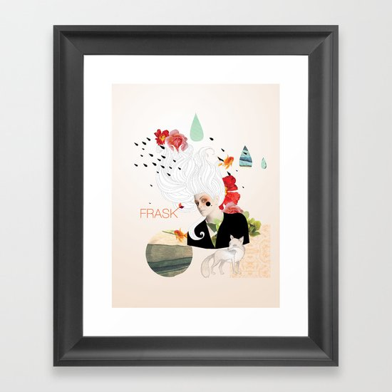 FRASK Collage Framed Art Print